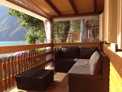 Photo for Chalet directly on the lake, spacious terrace and parking space
