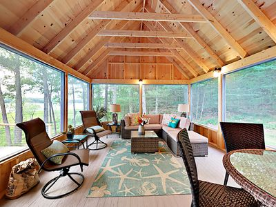 Porch - Lounge or enjoy dinner in the screened-in porch.