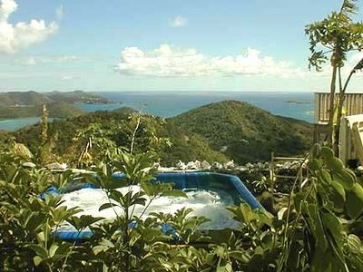 Photo for Breathtaking Panoramic Views of the British Virgin Islands from hot tub & pool!