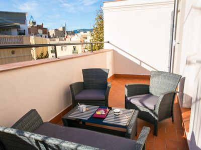 Photo for Penthouse with private terrace, well connected, with free wifi, ideal for couples