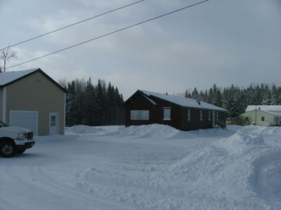 Photo for Clean, Comfortable Home with Direct snow mobile Trail Access, on 4 wheel trail