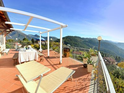 Photo for Comfortable house with panoramic terrace, a few km from the beaches