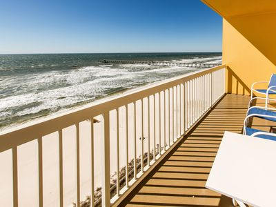 Photo for Cozy Calypso condo with private balcony and view of the Gulf