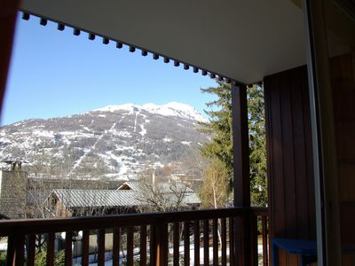 Photo for Bright apartment 59 m² balcony beautiful view Prorel, Briancon Serre Chevalier 1200