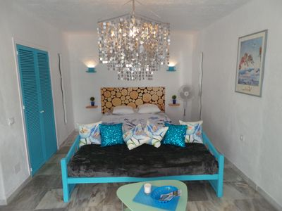 Photo for Nice studio, with balcony, garden, 1 km from the beach, ideal for lazing around ..