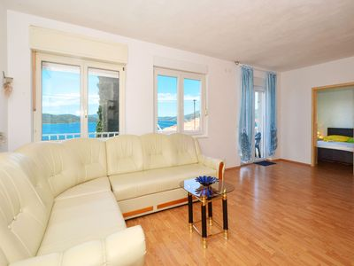Photo for JOSIP 2, pet friendly apartment with 2 bedrooms & only 230m from a pebble beach