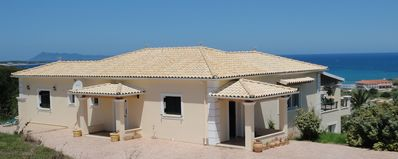 Photo for Beautiful 3 bedroom villa with pool & sea view, Agios Stefanos NW Corf