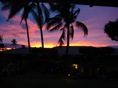 Sunset View from Unit D-105 Lanai