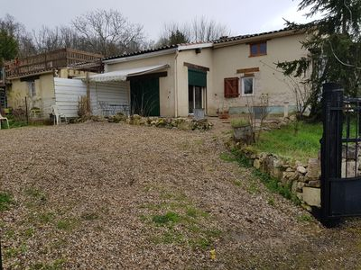 Photo for Terraced stone house not overlooked in the countryside of Cazes Mondenard