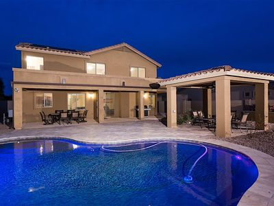 Photo for Valley of the Sun - Gorgeous 5BR Home w/ Private Solar Heated Pool in Mesa!