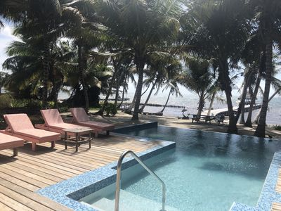 Relax poolside on our new lounge chairs with a good book and a cold beverage