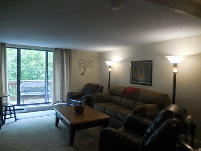 Photo for Enjoy this 4 bedroom 4 bath condo. It is across the road from the ski slopes.