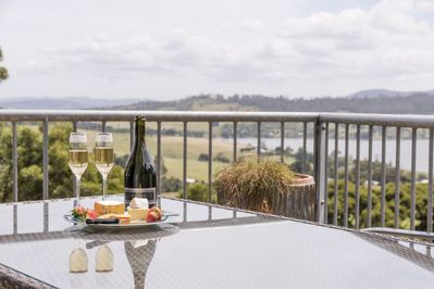 Tamar Ridge Sparkling apartment terrace