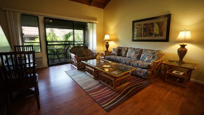 Photo for SPECIAL RATES NOW ! Spacious and clean condo.  Short stroll Kalepolepo Beach