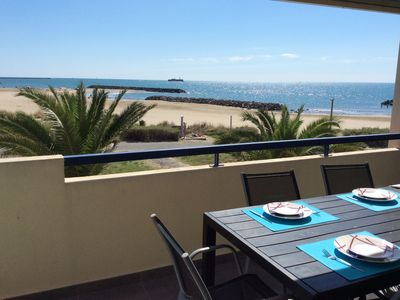 Photo for CAP D'AGDE - ROCHELONGUE BEAUTIFUL 3 ROOMS WITH LARGE TERRACE FACING THE SEA