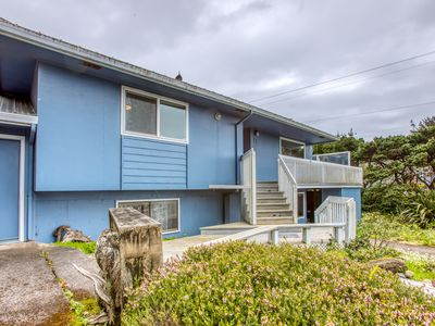 Photo for Oceanview home  w/ hot tub - close to town & 4 blocks from the beach!