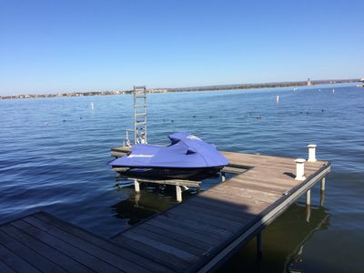 Photo for Waterfront with Private Boat Dock near Yacht Club on Lake LBJ. Enjoy!