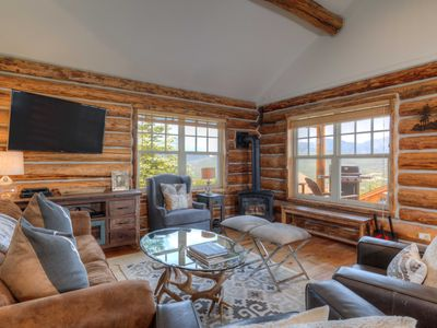 Photo for Full Mountain Ski Access Off Your Porch. A True Ski Cabin With Private Hot Tub!