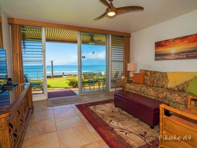 Photo for MAUI MAGIC BEACHFRONT Condo 20 Feet From the Ocean, New Owners/Just Remodeled