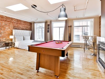 Photo for Stunning Old Montreal Loft with POOL TABLE