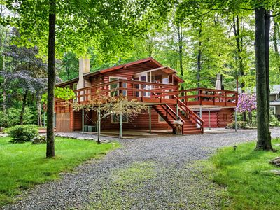 Photo for Lake Poconos Home w/Sauna, Indoor Pool & Fire Pit!