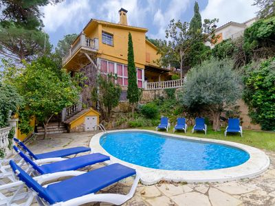 Photo for Club Villamar - Beautiful villa with private pool situated in a charming area near Lloret de Mar