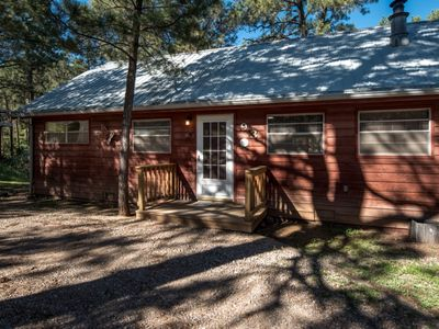 Photo for Rustic Cabin w/ Large Back Deck Facing Sierra Blanca