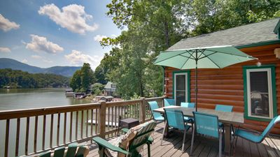 Photo for Large lakefront cabin w/kayaks and boathouse.