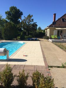 Photo for Country house with pool 1 hour from Paris