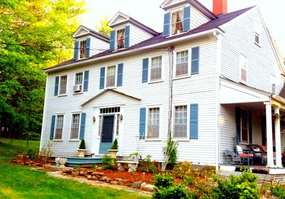 Lake House is a large colonial with 3 bedrooms and 1.5 bath.
