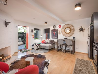 Photo for Chic & Tranquil Studio Flat in Silver Lake w/ Deck - Walk to Dining & Shops