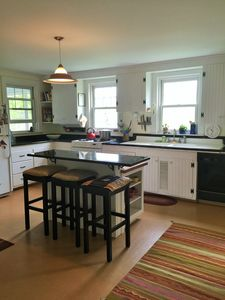 Cook in a spacious and well stocked country kitchen....