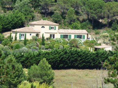 Photo for Spacious Villa with Heated Pool Overlooking Vineyards
