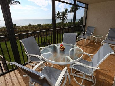 Photo for Carefree Beachfront Sanibel Rental - Compass Point 152