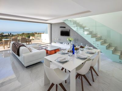 Photo for Luxury state of the art, spacious penthouse apartment, with fantastic sea views - Palms nº 2
