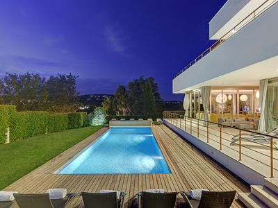 Photo for Front-line golf in Sotogrande, sleeps 12-14, lovely gardens & large heated pool