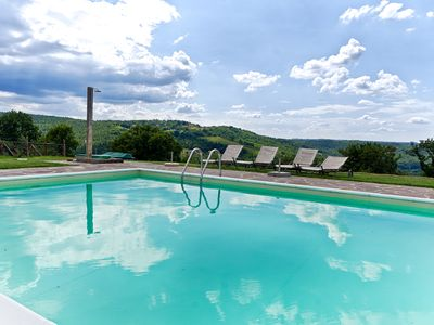 Photo for Sangiovese Country House, apartment with pool in a small village in the hills of Chianti