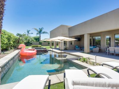 Photo for DESERT PARADISE(walk to COACHELLA!)BBQ/Pool Table/Spa/Patio Misters/MONTAGE!