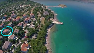 Photo for Apartment B Klenovica, 50m from the sea, on the first floor, overlooking the sea