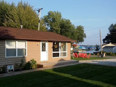 Photo for Lake Wawasee 2 Bedroom Condo on Channel includes 1 Boat Slip, Sleeps 6, Fire Pit