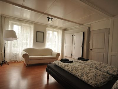 Photo for Spacious ground floor apartment.  Close to Interlaken.  Sleeps 12