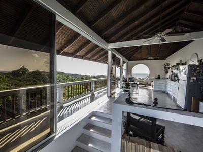 Photo for Chic, modern, beautifully decorated home with stunning view of the Caribbean Sea