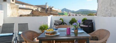 Photo for Sunset Es Celler - Oldtown Alcudia with private terrace for outdoor dining