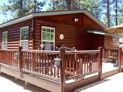 Photo for Meadow Retreat- Immaculate Log Style Cabin with Outdoor Spa!