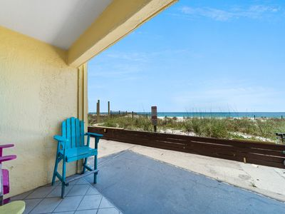 Photo for New Listing! Fantastic condo just steps to the sand! Across from Gulf World!