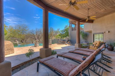 Back Patio - perfect for enjoying the pool