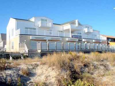 Photo for VIEWS!!!   PRIVATE ocean front deck with views to the Atlantic City Casinos north and Avalon looking south