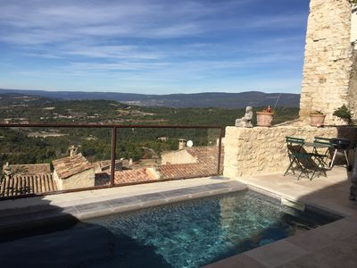 Photo for LUBERON HOUSE OLIVE PANORAMIC POOL