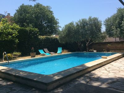 Photo for Beautiful Provencal house, French billiards and swimming pool - 8 people