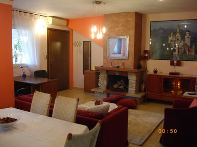 """Photo for ENTIRE INDEPENDENT AP/NT""""Sweet Home""""inThes/niki.Fireplace,A/C,BBQ,Garden,Parking"""